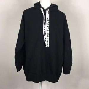 Zara Basic Black Made For Everybody Sweatshirt